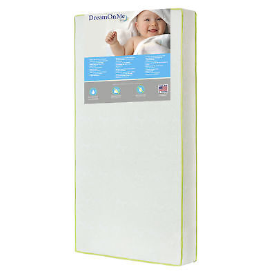 """Dream On Me Breathable Core Little Butterflies 6"""" Crib and Toddler Bed Mattress"""