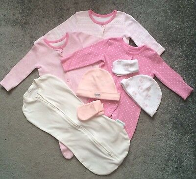 Baby Girl Newborn Sleep suit Bundle with SwaddlePod.