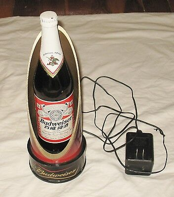 2004 Lighted Budweiser Display with Japanese Bottle