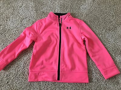 3t under armour girls zip up pink