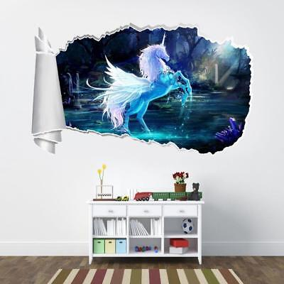 Shimmer Shine 3D Torn Hole Ripped Wall Sticker Decal Home Decor Art Mural WT294