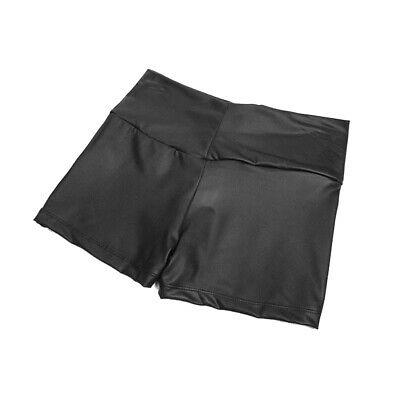 One Size Faux Leather High Waist Elastic Skinny Shorts Leggings Pants for Women