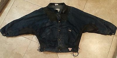 RARE VTG 80's Guess Denim & Leather Jacket Coat M SZ Georges Marciano BTTF Style