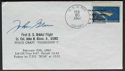 s336) Space First US Orbital Flight Friendship 7  USS Noa 20.2.1962 signed Glenn