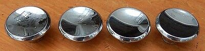 4 Vintage Chrome Mid-century 50's 60's Cabinet Knobs Drawer Pulls