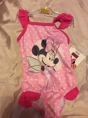 Baby Girl Minnie Mouse Swimsuit 12 Months