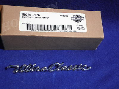 Harley electra glide ultra classic front fender name plate script  59236-97A