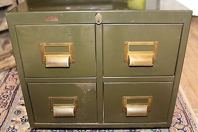 Vintage Industrial Filing Drawers / Retro Metal Cabinet / Milton Keynes