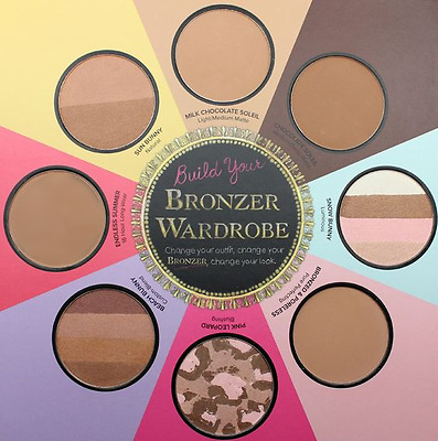 Too Faced The Little Black Book Of Bronzers Palette Set Chocolate Soleil Tan New