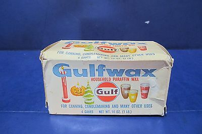 Gulfwax Household Parafin Wax Oil Gas Advertising Gulf Candlemaking Canning USA
