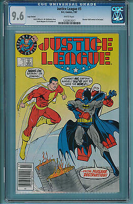 Justice League #3 CGC 9.6  Logo Variant Cover