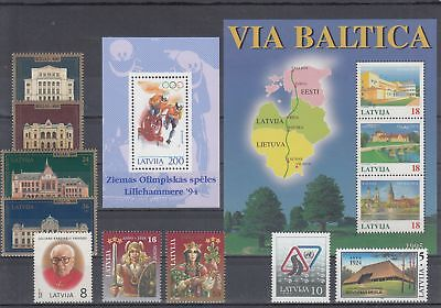 26467 / Lettland ** MNH  Lot Map Cept Olympia
