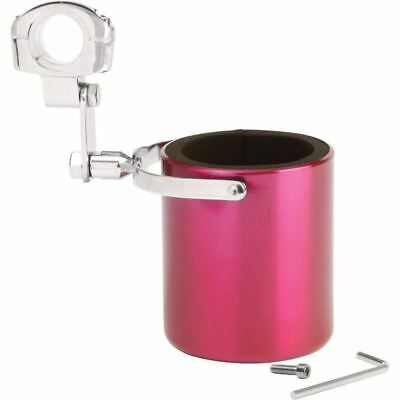 Diamond Plate™ Pink Stainless Steel Motorcycle Cup Holder