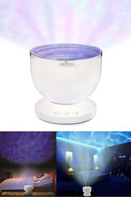 LED Light Ocean Wave Night Projector Multicolor Music Bedroom Water Mini Speaker