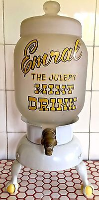 "VTG 1920s Soda Fountain Emral ""the Julepy"" Mint Syrup Drink Dispenser"