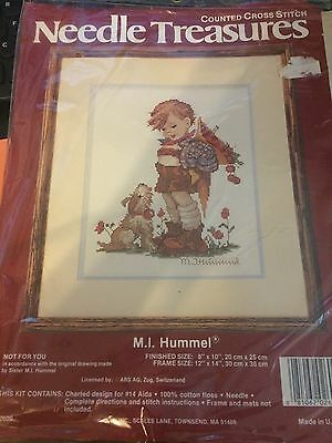 """Needle Treasures Counted Cross Stitch M.I Hummel """"Not For You""""  Kit - NIP"""