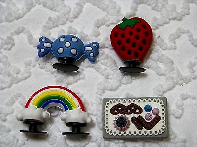 C 611 US Seller New 3D Candy Rainbow Cake Shoe Charms Will Also Fit Jibitz,Croc