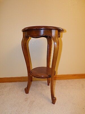 Louis XV Walnut Pedestal Table * Accent Table * contemporary reproduction * 1960