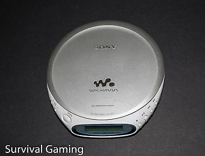 SONY WALKMAN D-EJ360 personal CD PLAYER w/G PROTECTION jogproof SILVER working H