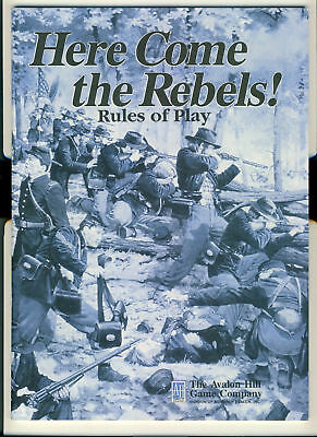 Here Come the Rebels! Rules of Play Avalon Hill 48 pages ref100051