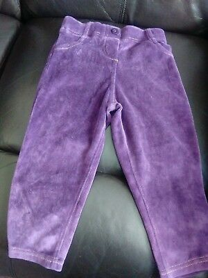M&S lovely soft purple Girls trouser 18-24 months in vgc