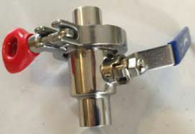 """1/2"""" NPT Stainless Steel Quick Clean Ball Valve"""