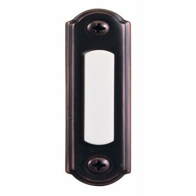 New Wired Lighted Door Bell Push Button, Mediterranean Bronze Free Shipping