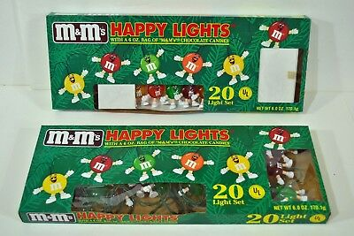 M&M Happy Lights Vintage 20 String Patio Birthday Party Assorted Colors NEW