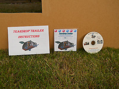 Teardrop Trailer,Pod,Tiny Caravan,Glamping,Plans,Template,Instructions,Building