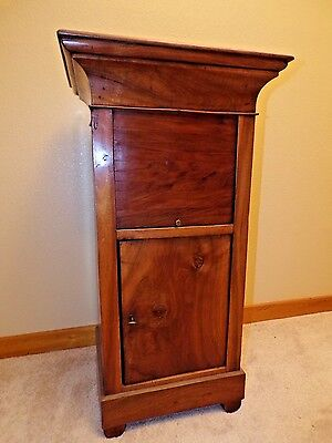 Antique Louis Philippe Walnut Nighstand Walnut Bedside circa 1920 Accent Table