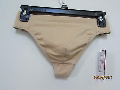 New CAPEZIO Men's size L Reinforced Front-Lined Thong Dance Belt Natural Nude