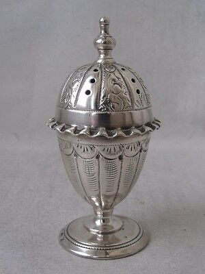 Nice Antique Solid Sterling Silver Pepper Pot 1888/ H 7.2 cm