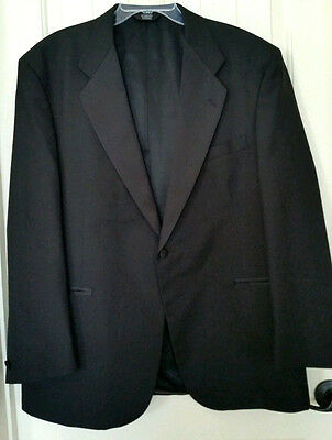BARRY Size 48R Classic Black Notched Lapel Single Breasted Tuxedo Formal Jacket