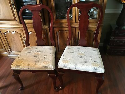 set of 6 new Pennsylvania House Queen Anne dining chairs w/ custom Upholstery
