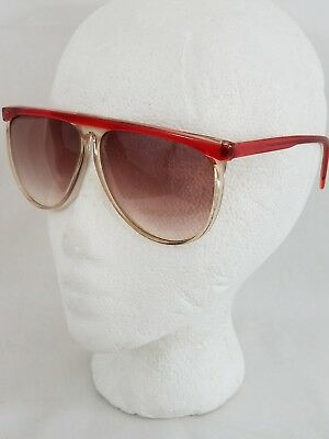 Vintage Sunglases 80s 90s Hi Brow Big Chunky Summer Funky Costume Glasses Red