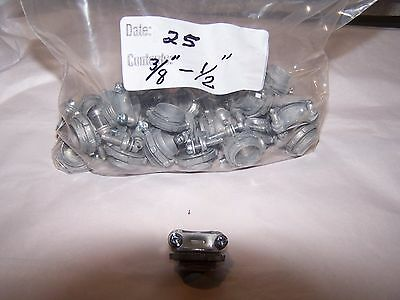 """N M Cable Connector 3/8"""" - 1/2"""" ~ lot of 25 ~new~"""