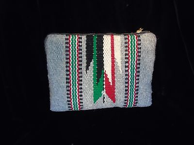 Vintage Original Chimayo Purse by Granscraft hand woven Great condition zippered