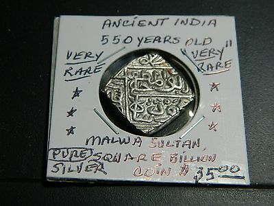 """Indian Coin/ Shah Malwa Sultan """"840-873""""ah """"rare"""" Coin Au+ Very Old ! Over 550 Y"""