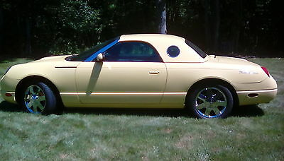 2002 Ford Thunderbird Chrome 2002 Inspiration yellow Thunderbird