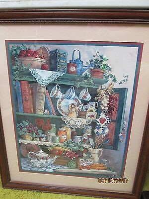 Barbara Mock Home Interiors Framed Print Cupboard Gardening Seeds and  Ivy Plant