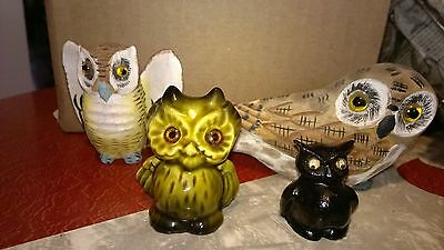 AWESOME Owl lot!  2 carved, 2 unique.  PERFECT condition.  WHOOO wants them?