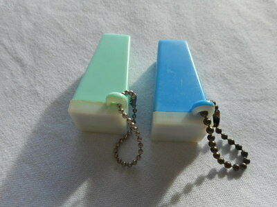 Vintage Pair Plastic Keychain Viewers Of 1970's Chevrolet Monte Carlo & Impala
