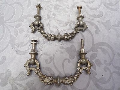 Pair Of Antique Metal Furniture Handles * Circa 1890 * Antique Hardware *