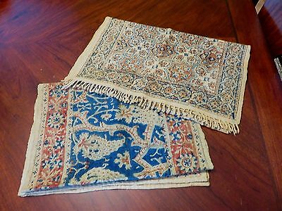 2 Antique Islamic Textiles Persian Iranian Ghalamkar Linen Runners