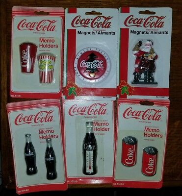 Vintage Coca Cola Magnets, 9 Magnets, 6 packages. NEW