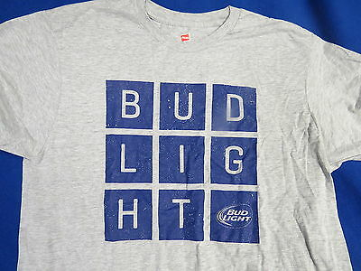 Bud Light Beer NEW T-Shirt (XL) Anheuser Busch Brew St Louis MO American Cube G