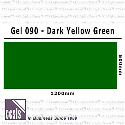 Clear Color 090 Filter Sheet - Dark Yellow Green