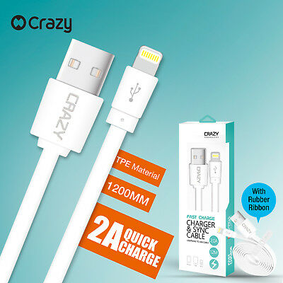Crazy USB Data Charging Cable Charger for Apple iPhone 7 6 S 5 iPad