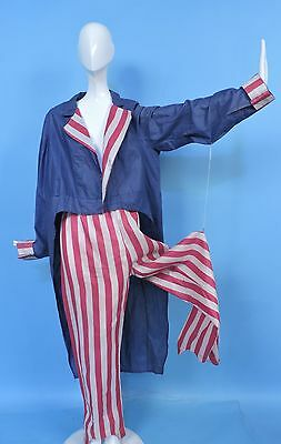 Antique Patriotic Uncle Sam 4Th Of July Parade Halloween Costume Suit