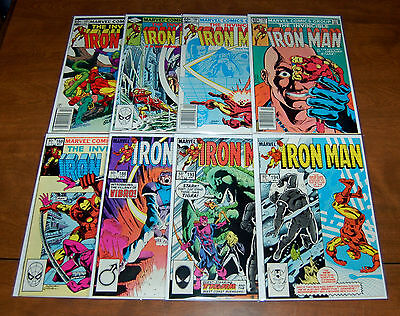 Iron Man (1968 series) #160 161 166 167 168 186 193 194 Lot (8) FN to VF+ Cond.